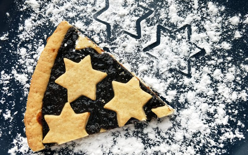 Vánoční linecký koláč