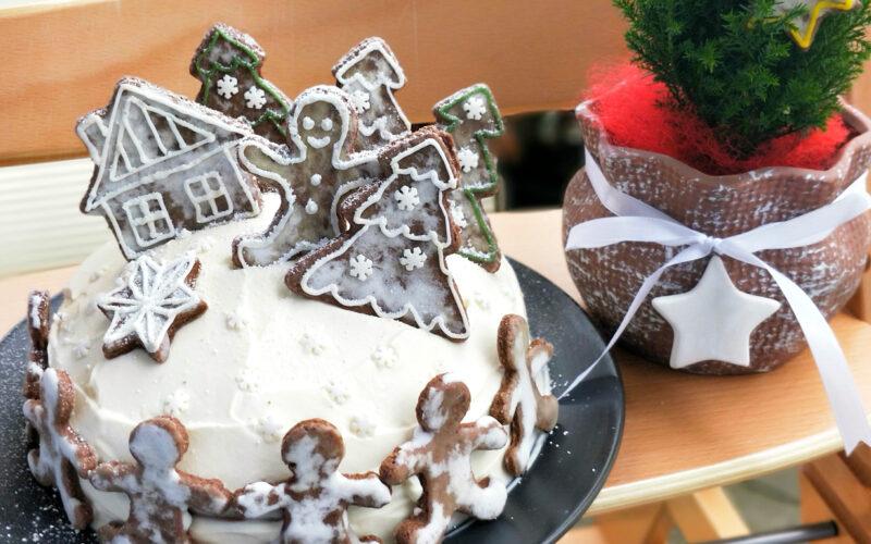 Perníkový dort s povidly a perníčky