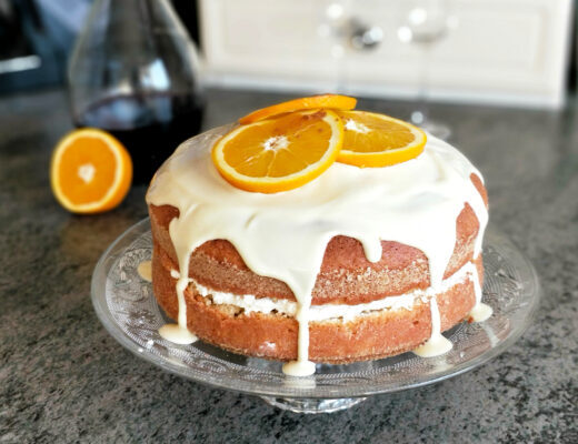 Šifonový dort s pomerančem